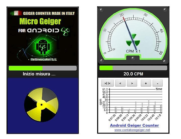 Applicazione Micro Geiger per Android