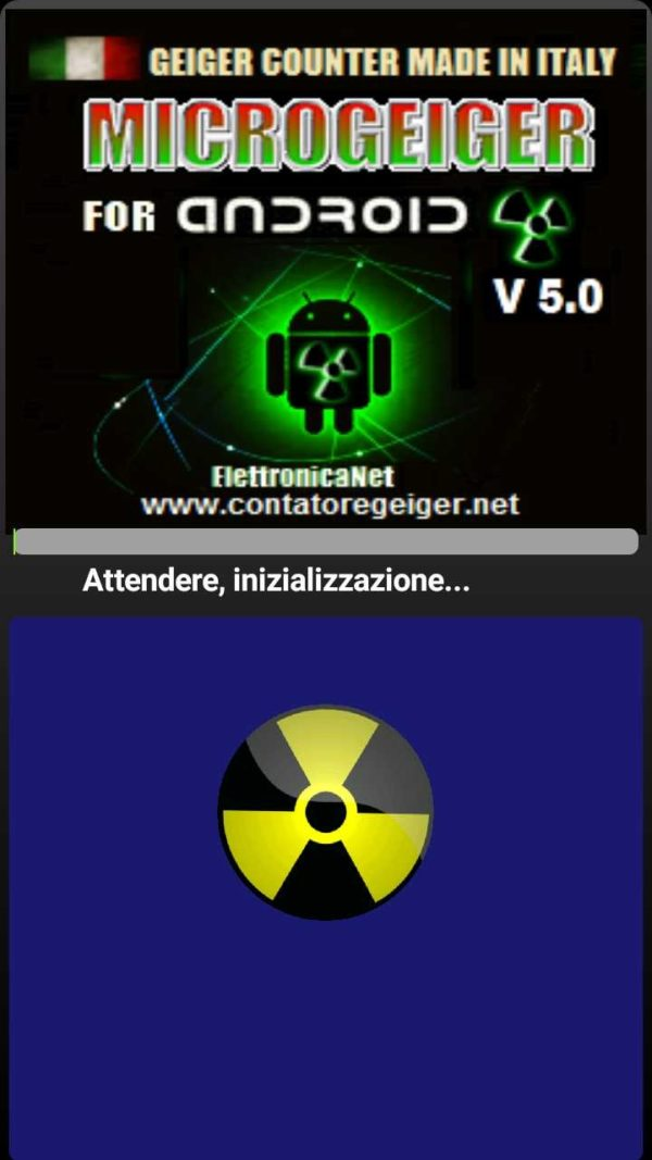 Applicazione Android MicroGeiger