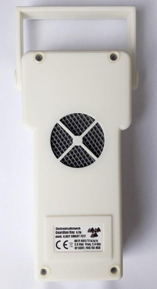 contatore geiger Guardian Ray Smart bianco con LCD Touch 2.4 pollici lato posteriore