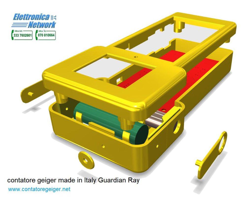 Progettazione del contatore geiger Guardian Ray-Smart 712 alfa beta gamma