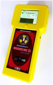 Contatore geiger made in Italy Guardian Ray Smart 712 giallo