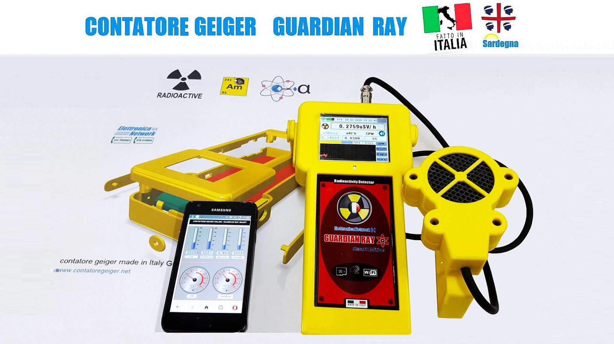 ElettronicaNetwork Contatori Geiger made in Italy Guardian Ray