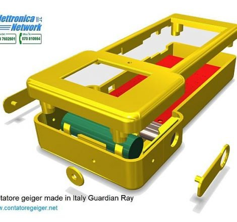 Progetto 3D del contatore Geiger Guardian Ray Smart 712